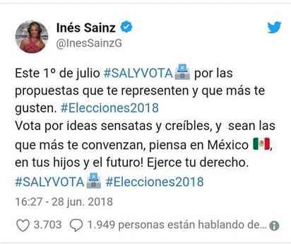 ¿Inés Sainz violó la veda electoral?