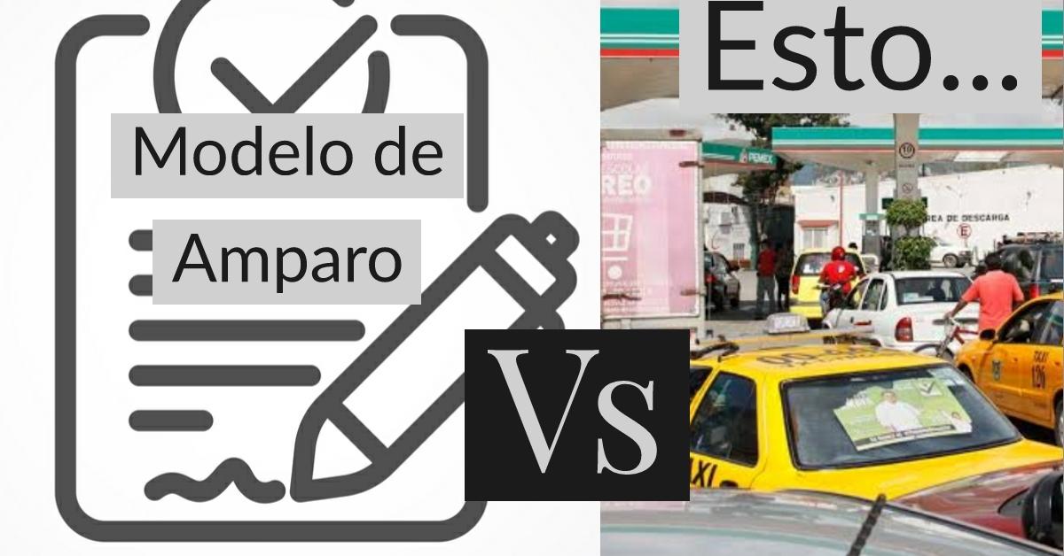 Modelo de Amparo vs escasez de gasolina